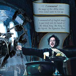 Jonathan Strange & Mr Norrell. Double page spread.  Artwork inspired by the BBC drama, for a personal book project.