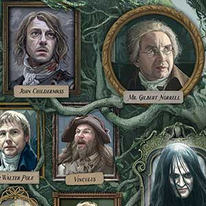 Jonathan Strange & Mr Norrell- double page spread. Artwork inspired by the BBC drama. Personal book project.